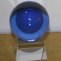 80mm Light Blue Crystal Ball